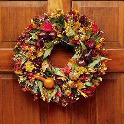 "Harvest Gourd 22"" Wreath"