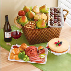 Table Rock Turkey Buffet Gift Basket with Wine