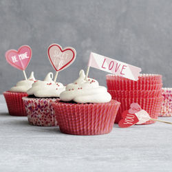 Sweet Love Bake Cup and Toppers