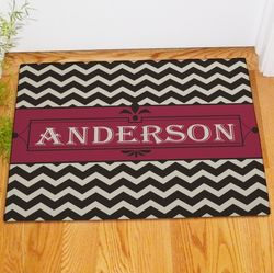 Personalized Chevron Welcome Doormat