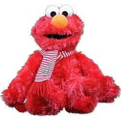 Christmas Elmo Stuffed Animal with Personalized Scarf