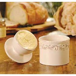 Ivory Rose Butter Bell Crock