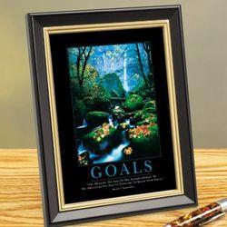 """Goals"" Stream Framed Desktop Print"