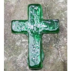 Hope Glass Emerald Green Pocket Cross