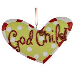 God Child Heart Christmas Ornament
