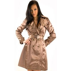 Gold Belted Trench Coat