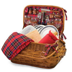 Green Bay Packers Highlander Rattan Picnic Basket