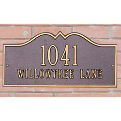 Hillsboro House Address Plaque
