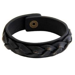 Java Journeys Men's Distressed Leather Bracelet