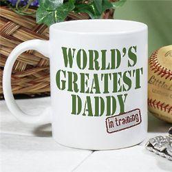 Personalized World's Greatest New Dad Coffee Mug