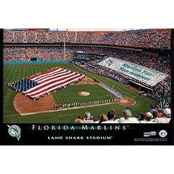 Florida Marlins 12x18 Baseball Stadium Canvas