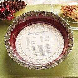 Christmas Morning Coffee Cake Baking Dish