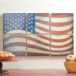 American Flag Canvas Wall Art Pieces