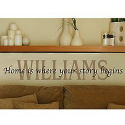 Personalized Any 2 Line Message Wall Vinyl