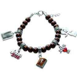 Religious Charm Bracelet in Silver