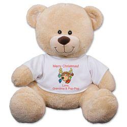 Personalized Christmas Reindeer Teddy Bear