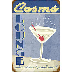 Cosmo Lounge Metal Sign