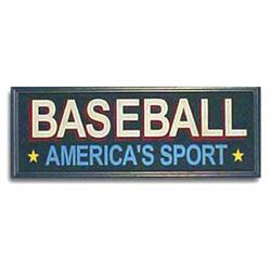 Baseball America's Sport Sign
