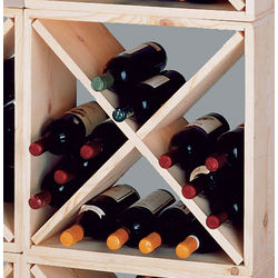 Country Pine Cube Wine Rack