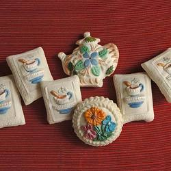 Teapot and Cups Springerle Cookie Gift Tin