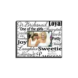 Personalized Junior Bridesmaid Frame in Black on White