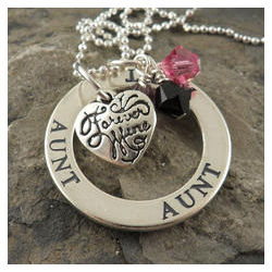 Sterling Silver Aunt Affirmation Necklace