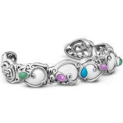 Cascades Multi-Gemstone Cuff Bracelet