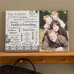 Our Family Personalized Photo Canvas Art