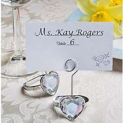 Heart Engagement Ring Place Card Holders