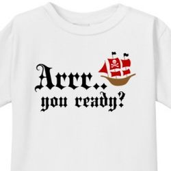 Arr You Ready? I'm Going to be a Big Brother Toddler T-Shirt