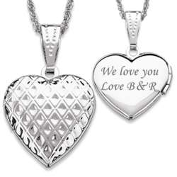 Silvertone Lattice Petite Heart Locket