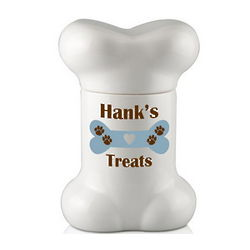 Bone Shaped Personalized Dog Treat Jar