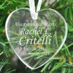 Always in Our Hearts Personalized Ornament