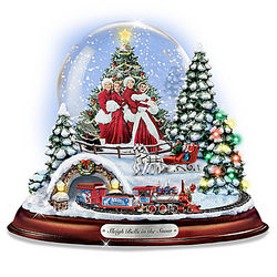Sleigh Bells in the Snow Water Globe