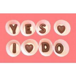 Yes I Do Alphabet Chocolate