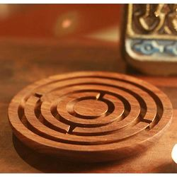 Labyrinth Intrigue Wood Game