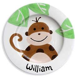 Baby's Monkey Mischief Ceramic Plate