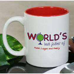 Personalized World's Best Father Coffee Mug