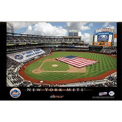 New York Mets 16x24 Personalized Stadium Canvas