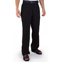 Black Flat Front Linen Pants