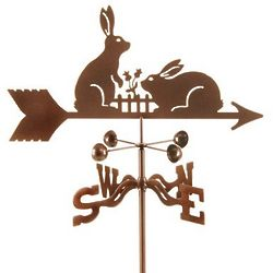 Rabbits and Fence Weathervane