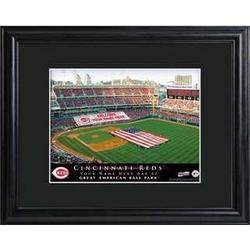 Cincinnati Reds Personalized Ballpark Print with Matted Frame