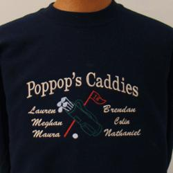 Caddies Personalized Embroidered Family Shirt