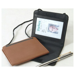 Leather ID Badge Holder