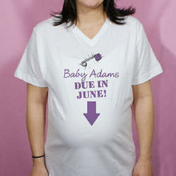Due in... Personalized Maternity Nightshirt