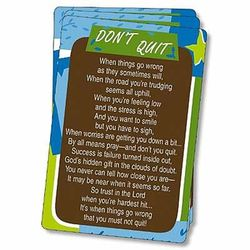Don't Quit Prayer Cards