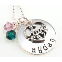 Aunt Hand Stamped Necklace