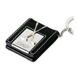 Leather Photo Golf Keychain