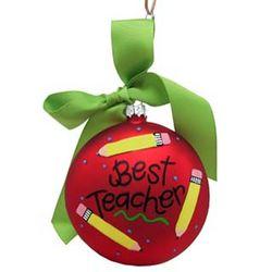 Best Teacher Christmas Ornament