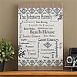 Our Family Personalized Canvas Art